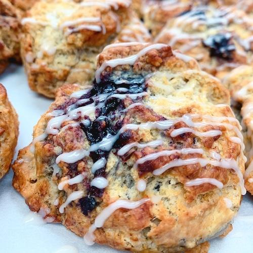 vegan cherry almond scone